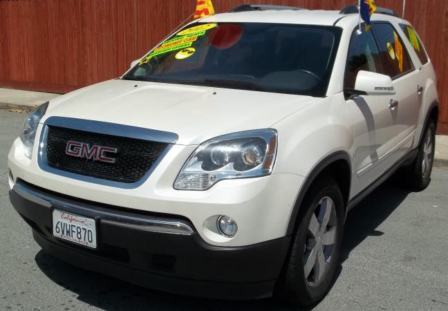 2012 GMC ACADIA whiteblack automatic air conditioneralarmamfm radioanti-lock brakescassett