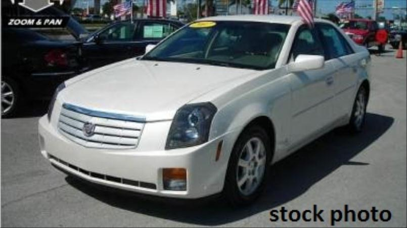 2007 CADILLAC CTS pearl whitetan automatic air conditioneralarmamfm radioanti-lock brakesc