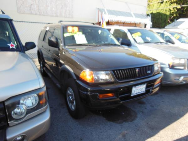 1999 MITSUBISHI MONTERO SPORT blackblack automatic air conditioneralarmamfm radioanti-lock