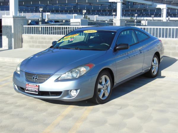 2004 TOYOTA CAMRY SOLARA blueblack automatic air conditioneralarmamfm radioanti-lock brakes