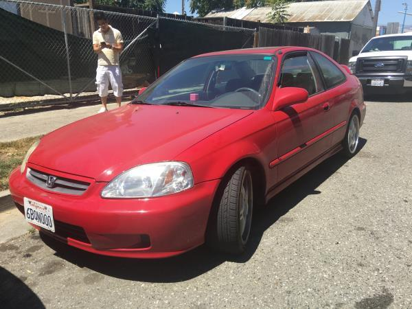 2000 HONDA CIVIC redgray 4 speed automatic air conditioneralarmamfm radioanti-lock brakesc