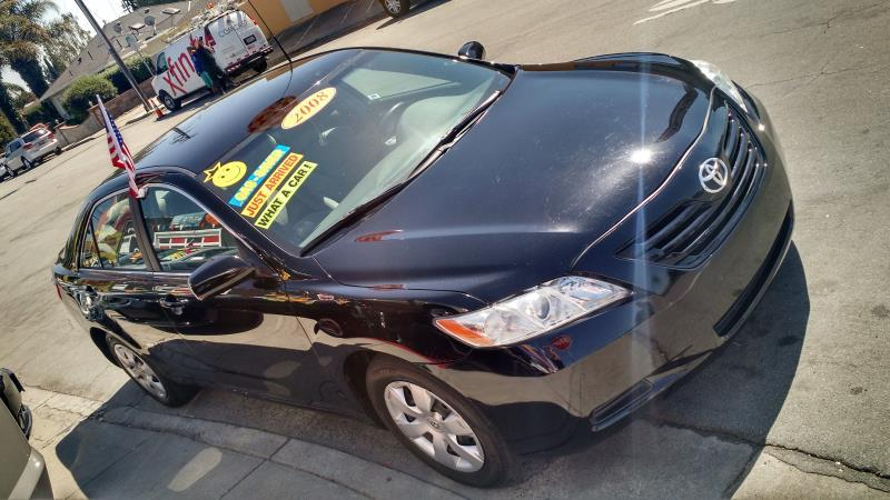 2008 TOYOTA CAMRY blackgray automatic air conditioneralarmamfm radioanti-lock brakescasset