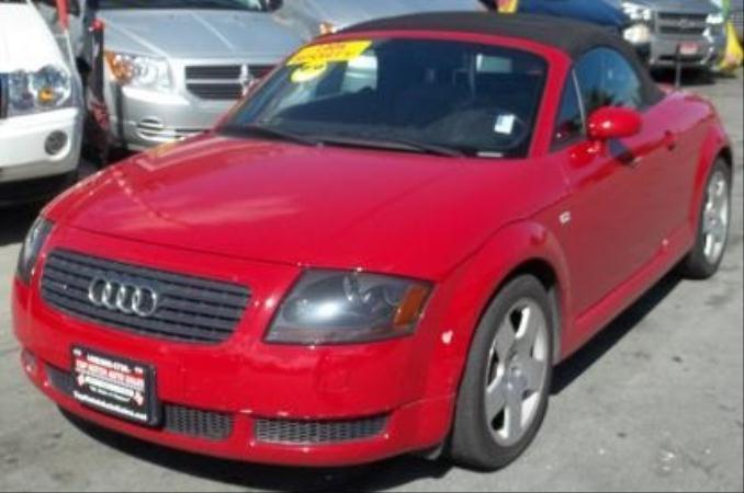 2001 AUDI TT redgray 5 speed manual air conditioneralarmamfm radioanti-lock brakescassette