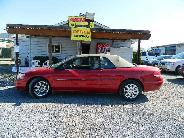 2005 CHRYSLER SEBRING red automatic 138241 miles Stock 1090 VIN 1C3EL65R55N677003