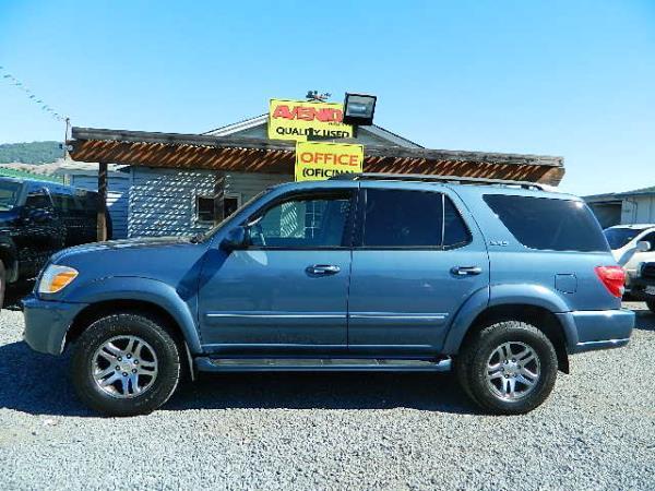 2007 TOYOTA SEQUOIA blue auto 204345 miles Stock 1101 VIN 5TDBT44A07S287695