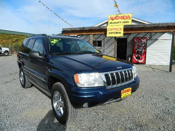 2004 JEEP GRAND CHEROKEE blueblack automatic 182523 miles Stock 478 VIN 1J8GW68J74C138628