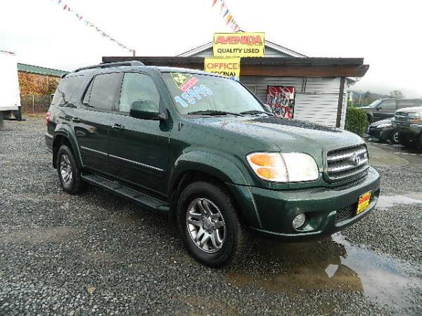 2004 TOYOTA SEQUOIA greengrey automatic 130597 miles Stock 481 VIN 5TDZT38A14S220814