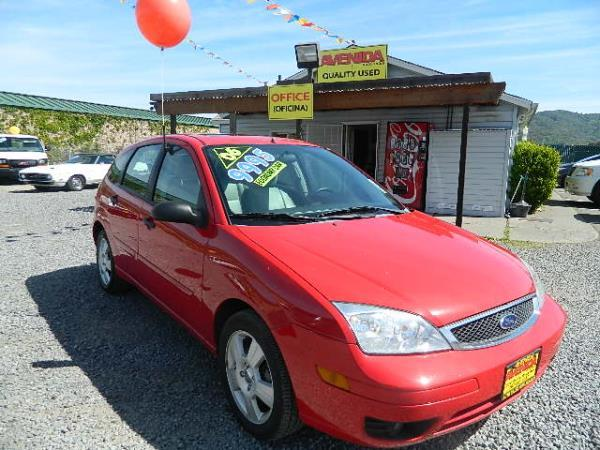 2006 FORD FOCUS redsilver automatic 100171 miles Stock 599 VIN 1FAFP37NX6W207595