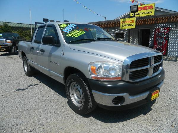 2006 DODGE RAM PICKUP silvergray 5 speed manual 112869 miles Stock 683 VIN 1D7HA18K46J11601