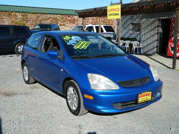 2003 HONDA CIVIC blueblack 5 speed manual 143656 miles Stock 733 VIN SHHEP33553U405916