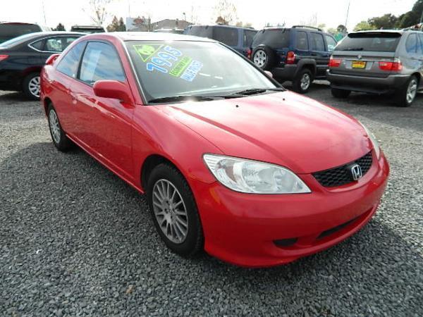 2005 HONDA CIVIC redgray 4 speed automatic 138973 miles Stock 734 VIN 1HGEM22925L018718