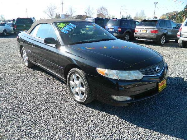 2002 TOYOTA CAMRY SOLARA blacktan automatic 132018 miles Stock 810 VIN 2T1FF28P22C589406