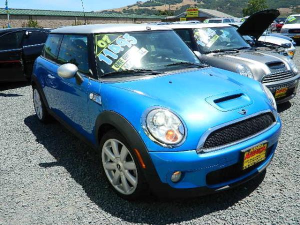 2007 MINI COOPER baby blueblack 85817 miles Stock 900 VIN WMWMF73547TL87691