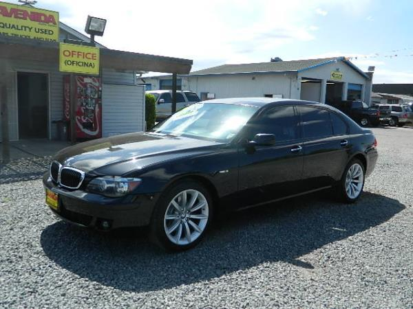 2008 BMW 7 SERIES black 123625 miles Stock 913 VIN WBAHN83508DT80436