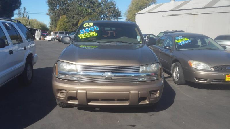 2003 CHEVROLET TRAILBLAZER brown auto 173708 miles Stock 12 VIN 1GNDS13S132281644