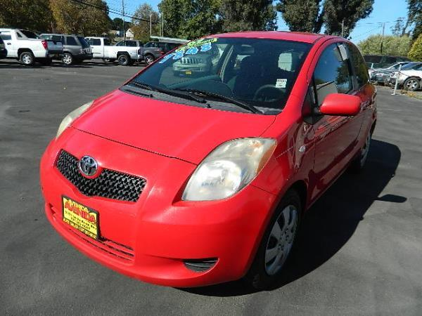 2007 TOYOTA YARIS red 143752 miles Stock 668 VIN JTDJT903875107322