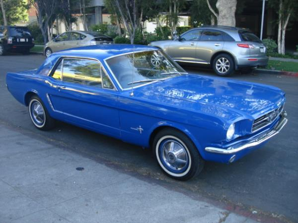 1965 FORD MUSTANG blueblue automatic 26548 miles Stock 2411 VIN 5R07T175469