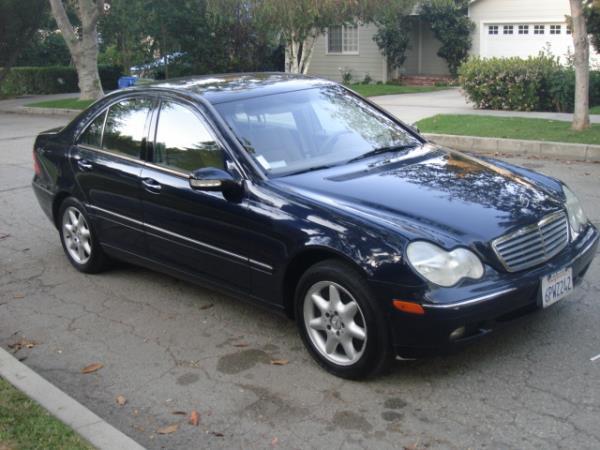 2002 MERCEDES C-CLASS bluetan automatic 128159 miles Stock 2773 VIN WDBRF61J82F183100