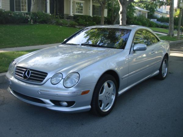 2002 MERCEDES CL-CLASS silvergray automatic 80381 miles Stock 2786 VIN WDBPJ75J62A029035