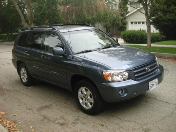 2003 TOYOTA HIGHLANDER bluegray automatic 108854 miles Stock 2813 VIN JTEGF21A330120830