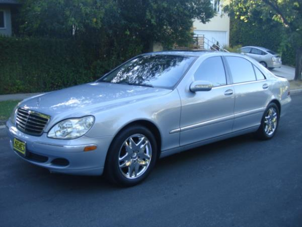 2003 MERCEDES S-CLASS blueblack automatic 143721 miles Stock 2829 VIN WDBNG75J93A377323