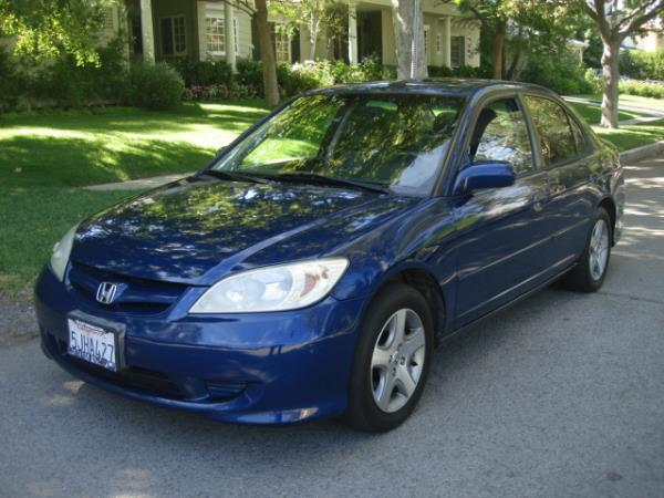 2004 HONDA CIVIC bluegray 4 speed automatic 140866 miles Stock 2839 VIN 2HGES26764H521050