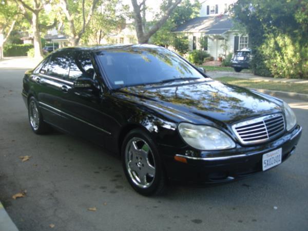 2000 MERCEDES S-CLASS blackblack automatic 91922 miles Stock 2855 VIN WDBNG70J5YA117077