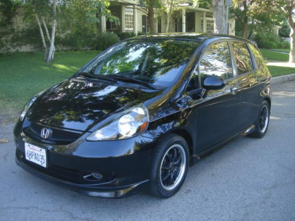 2007 HONDA FIT blackgray 5 speed automatic 78085 miles Stock 2868 VIN JHMGD38647S027695