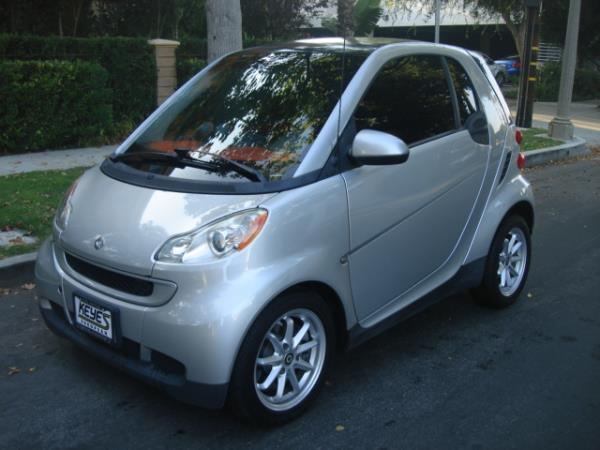 2008 SMART FORTWO silverred automatic 64251 miles Stock 2875 VIN WMEEJ31X78K155646