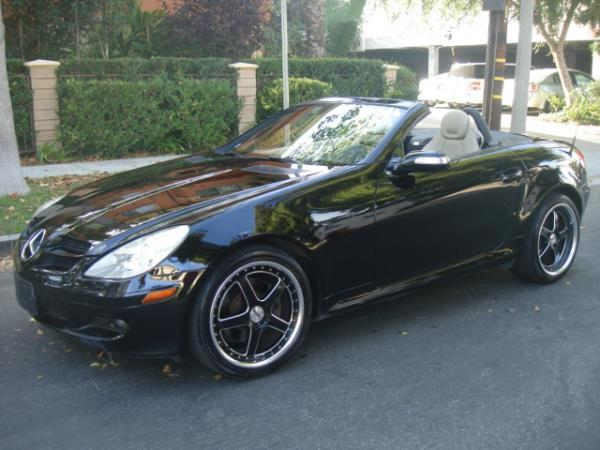 2006 MERCEDES SLK-CLASS blacktan automatic 98456 miles Stock 2878 VIN WDBWK54F06F121339